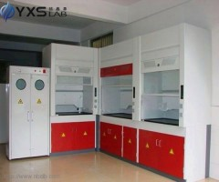 School Experimental Lab Fume Cupboard with Scrubber